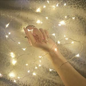 BRELONG 20LED Copper Wire String Lights for Christmas Indoor Decorations 1pcs -