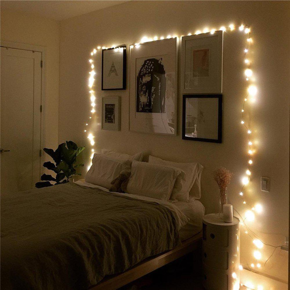 Cheap BRELONG 20LED Copper Wire String Lights for Christmas Indoor Decorations 1pcs
