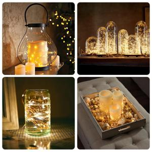 BRELONG 10LED Copper Wire String Lights for Christmas Indoor Decorations 1pc -