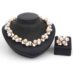 Necklace and Earrings Suit Fashion Wedding Jewelry Set -