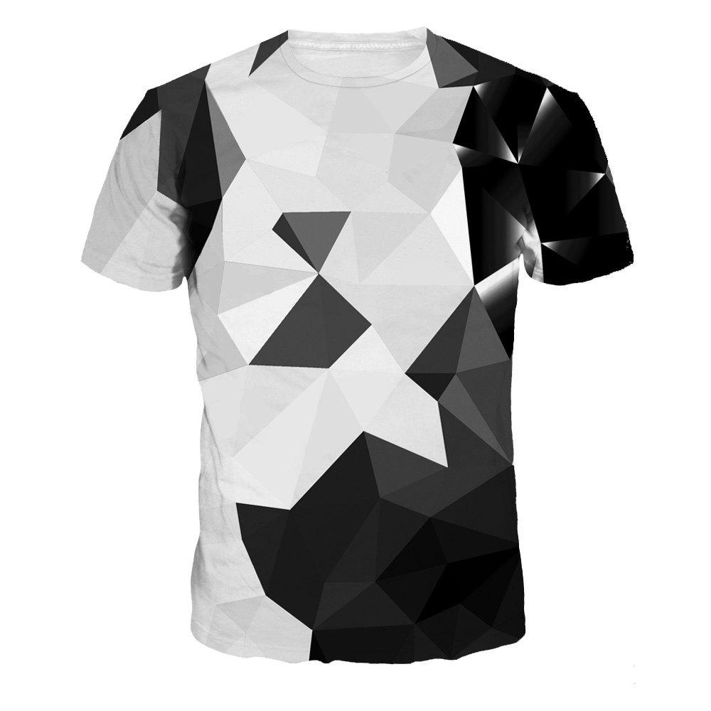 7e05352938285 Sale Fashion Design Geometric Patterns Digital Printing Short Sleeve T-shirt
