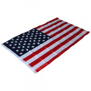 150X90CM High Quality Double-Sided Printed Polyester American Flag Ring -