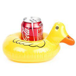 Aqua Ducklings Boat Inflatable Floating Row Cup Holder for Summer Pool Party Hawaii Beach -