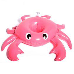 Inflatable Crab Drink Cup Holder Floating Row for Swimming Toy -