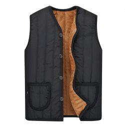 Men's Solid Color Vest Warm Jacket -
