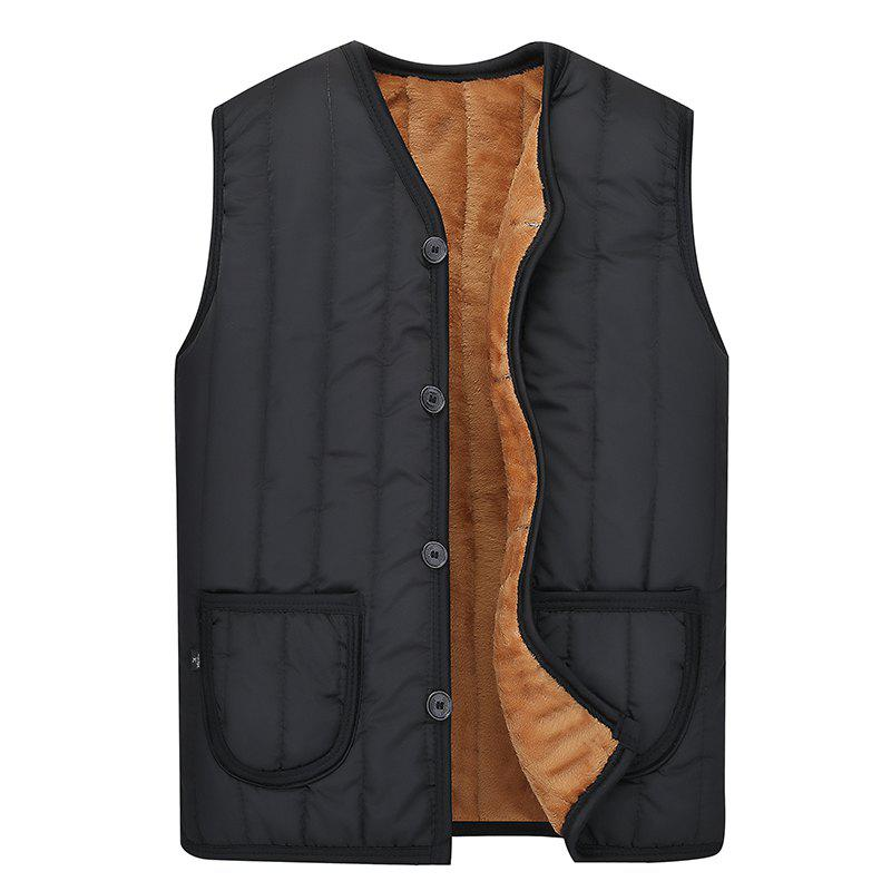 Discount Men's Solid Color Vest Warm Jacket