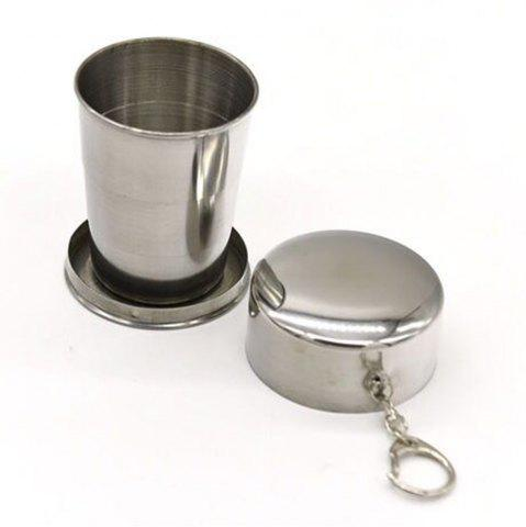Shops Collapsible Cup Stainless Steel Portable Folding Metal Telescopic Keychain Cups Mug for Excursion Outdoor Travel Camping