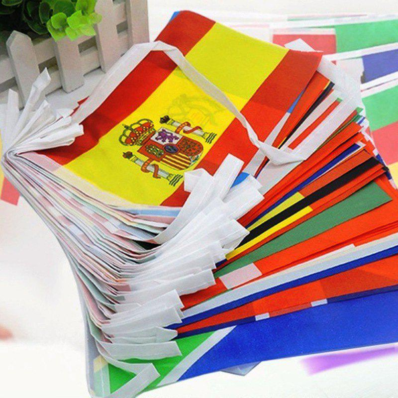 Online 2018 FIFA World Cup Russia Soccer Football Fabric Bunting Banner String Flags