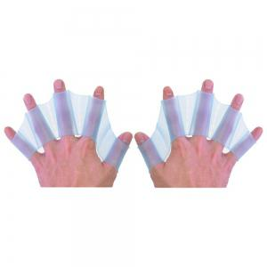 Soft Silicone Gear Paddle Palm Webbed Flippers Training Water Resistance Gloves for Swimming -