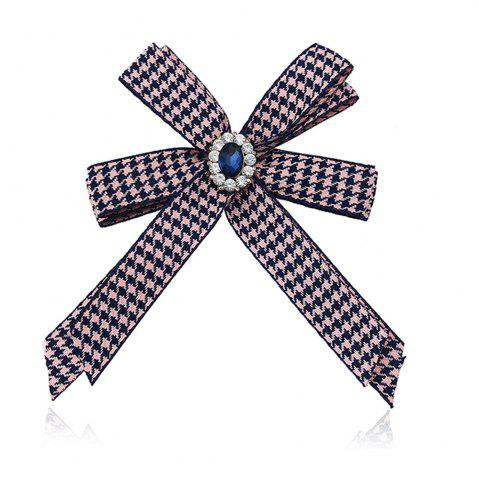 Affordable Diamond Brooch Flowers Bow Tie