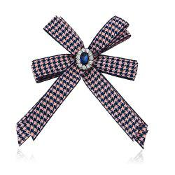 Diamond Brooch Flowers Bow Tie -