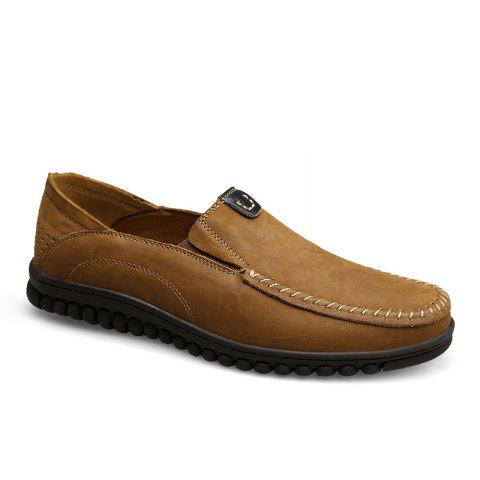 ZEACAVA Men Casual Business Mocassins à semelle souple à la main
