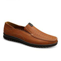 ZEACAVA Men Casual Business Handmade Soft Sole Flat Loafers -