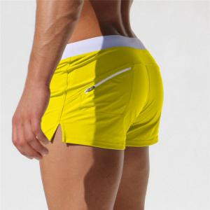 Fashion Style Men's Trunk Rapid Splice Square Solid Jammer Shorts Jammers -