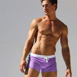 Fashion Style Hommes Tronc Rapide Splice Carré Solide Jammer Shorts Jammers -