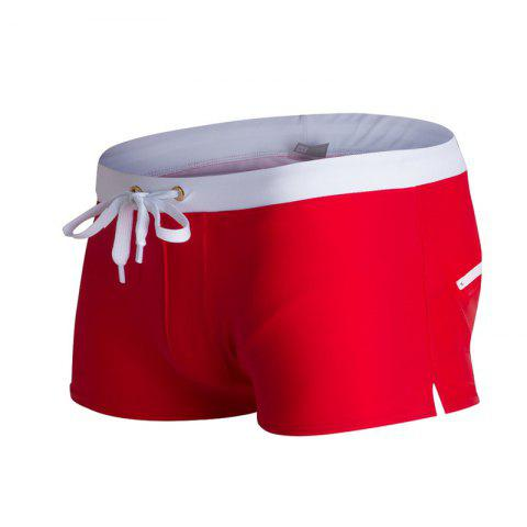 Buy Fashion Style Men's Trunk Rapid Splice Square Solid Jammer Shorts Jammers