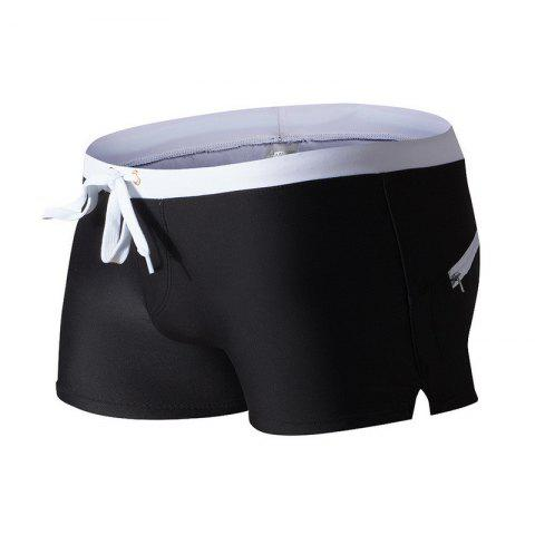 Affordable Fashion Style Men's Trunk Rapid Splice Square Solid Jammer Shorts Jammers
