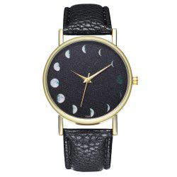 Zhou Lianfa The New Fashion Trend of The Golden Dial Lychee Pattern Month Watch -