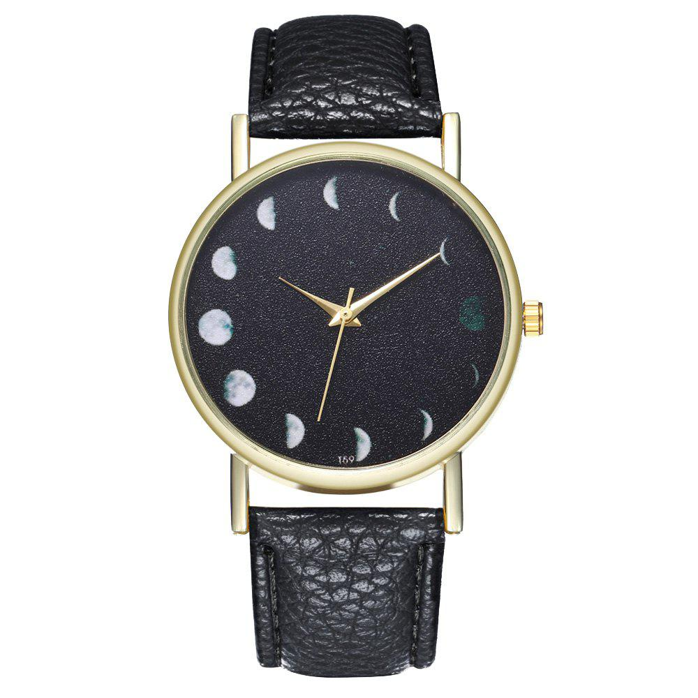 Buy Zhou Lianfa The New Fashion Trend of The Golden Dial Lychee Pattern Month Watch