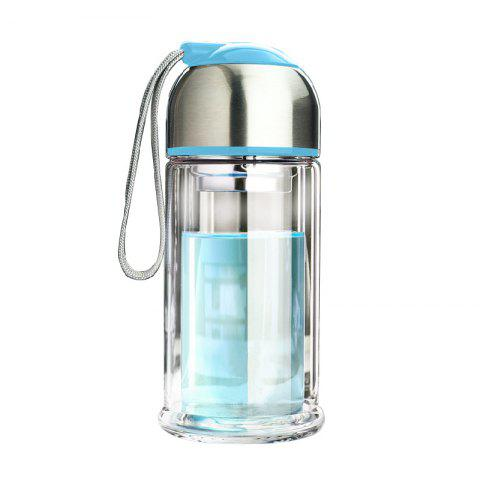 New Portable Double Layer Thickened Heat-Resistant Glass Vacuum Cup