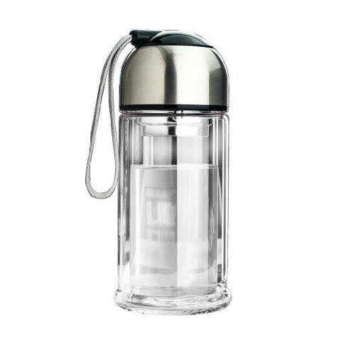 Fancy Portable Double Layer Thickened Heat-Resistant Glass Vacuum Cup