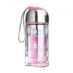 Portable Double Layer Thickened Heat-Resistant Glass Vacuum Cup -