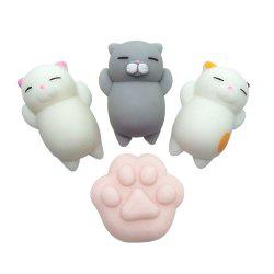 Kawaii Jumbo Squishy Cute Cats Paw Mini Animal Healing Stress Reliever Toy for Kids Adults 4PCS -