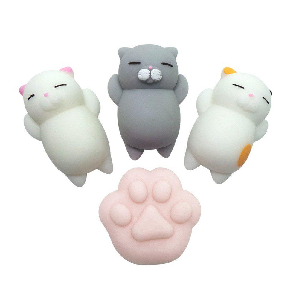 Store Kawaii Jumbo Squishy Cute Cats Paw Mini Animal Healing Stress Reliever Toy for Kids Adults 4PCS