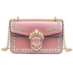 Fashion Patent Leather Chain Wild Shoulder Messenger Small Square Package -