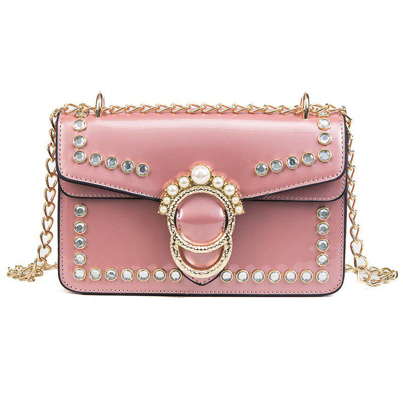 Fancy Fashion Patent Leather Chain Wild Shoulder Messenger Small Square Package