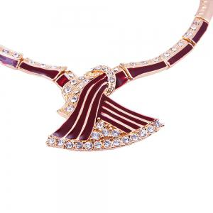 Gold-plated Fashionable Dovetail Necklace Earrings -