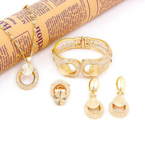 Online Gold-plated 18K Gold Atmospheric Fashion Jewelry Set