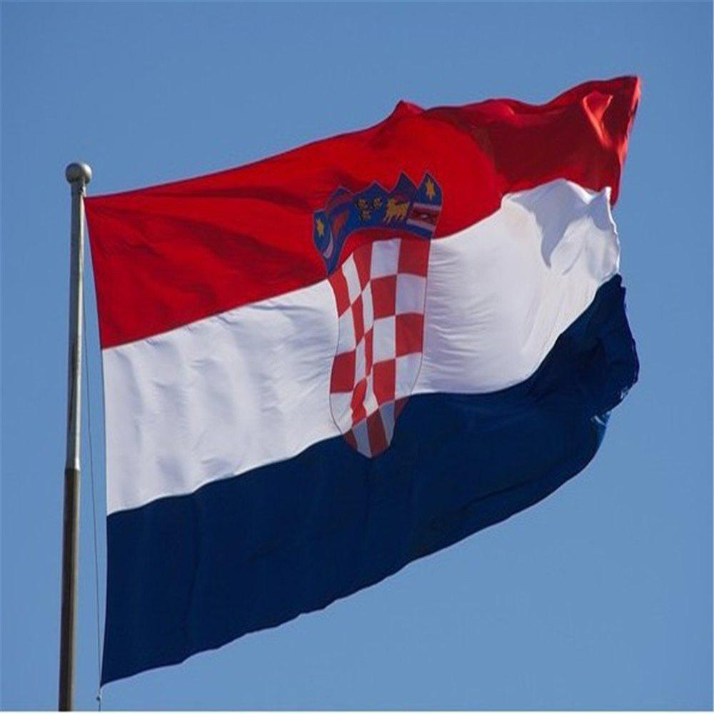 Buy Hot Sale 90x150 Centimeter Croatian Flag Hanging Flag Polyester Celebrating Outdoor Interior Banner