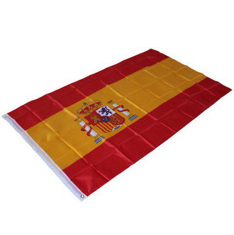 Buy 90X150CM Spanish Flag 3X5 Feet Super Poly Football Banner Indoor Outdoor Polyester