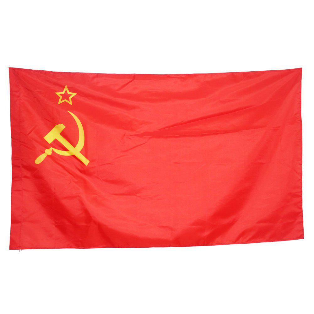 Cheap 90X150CM Flag of The Soviet Republic Red Revolution United Socialist Republic
