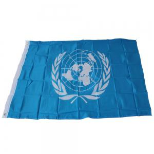 Hot 90 x 150 Cm UN Flag Polyester Country Office Event Parade Holiday Home Decor -