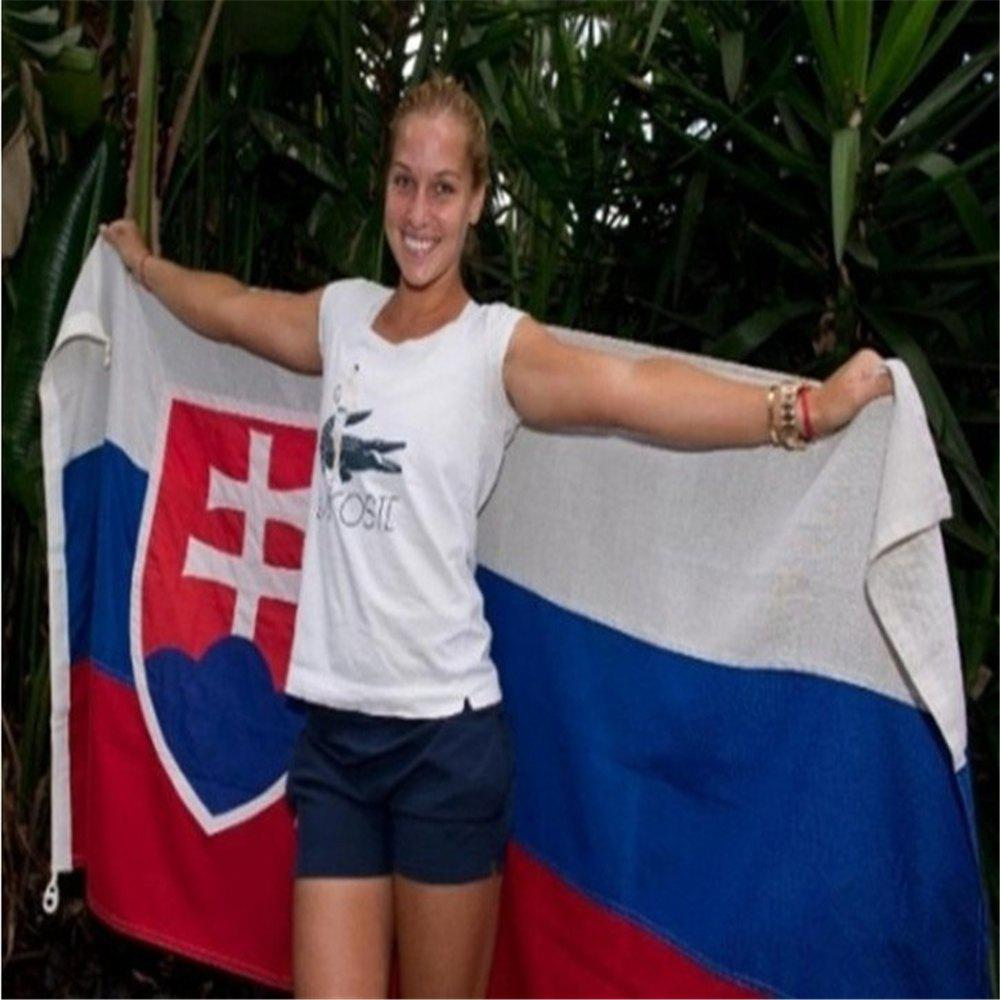 Best 90 x 150CM Slovakia Flag Polyester UV Digital Printing Event Parade Holiday Home Decor