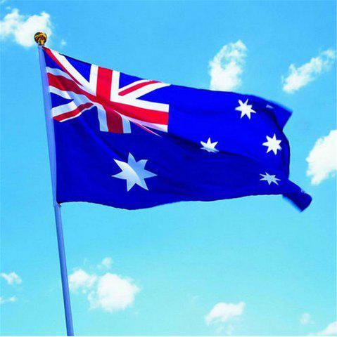 Cheap 90 x 150CM Australian Flag Flag-Mounted Polyester Outdoor Interior Banner for The Celebration