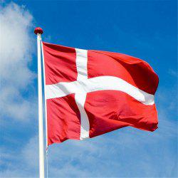 Hot Sale 90X150 Cm Danish National Flag Hanging for Holiday Home Decor -