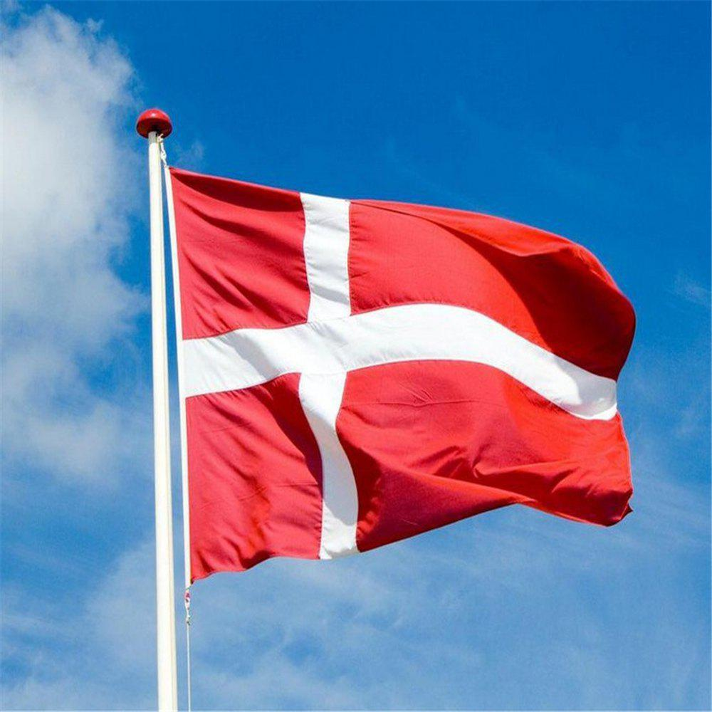 New Hot Sale 90X150 Cm Danish National Flag Hanging for Holiday Home Decor