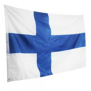 Hot Sale 90X150 Cm Finland Flag Polyester Standard Banner Outdoor Interior Home Decor -