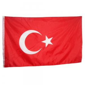 Hot Sale High Quality 90X150 Cm Turkish Flag Polyester Standard Banner Outdoor Indoor Home Decoration -