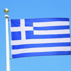 Hot Sale High Quality 90X150 Cm Greek Flag and Banner Decorated with Blue and White Stripes -