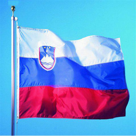 Hot Hot High Quality 90X150 Cm Slovenia Flag Polyester Office Event Parade Holiday Home Furnishings Fashion