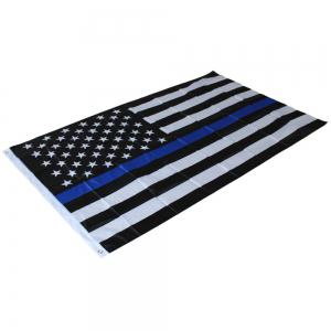 Best Selling High Quality 90X150 Cm American Black and Blue Bar Logo Flag Stripe Home Decor Souvenir -