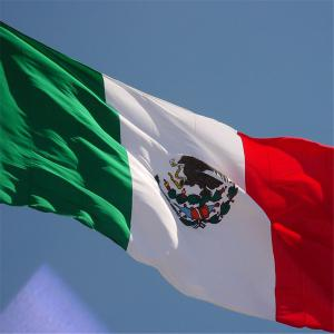 High Quality 90X150 Cm Mexican Flag Polyester Festive Home Super Poly Indoor Interior Decorating -