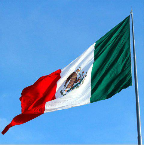 Shops High Quality 90X150 Cm Mexican Flag Polyester Festive Home Super Poly Indoor Interior Decorating