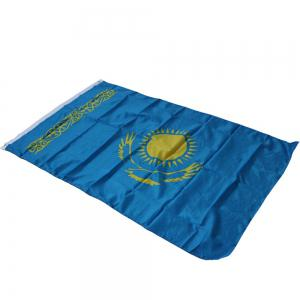High Quality 90X150 Cm Kazakhstan Flag Polyester Festival Home Super Poly Indoor and Outdoor Decoration -