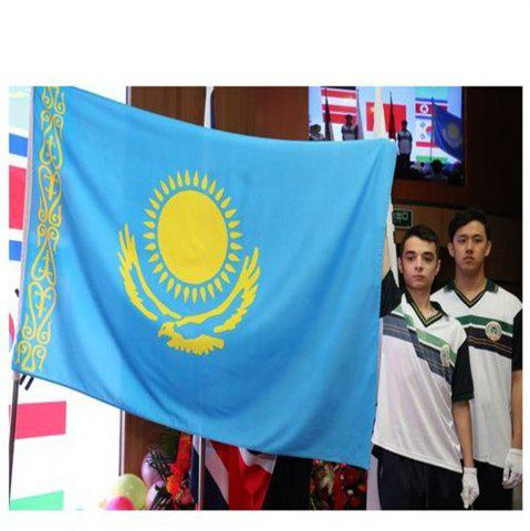 Store High Quality 90X150 Cm Kazakhstan Flag Polyester Festival Home Super Poly Indoor and Outdoor Decoration