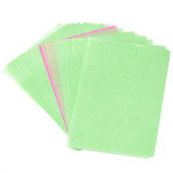 Papier d'absorption d'huile faciale de lin naturel de 80PCS -